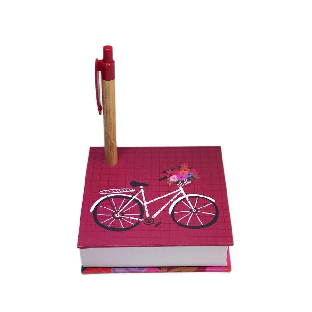 Bloco de Anotações Bicicleta Vinho Lubi