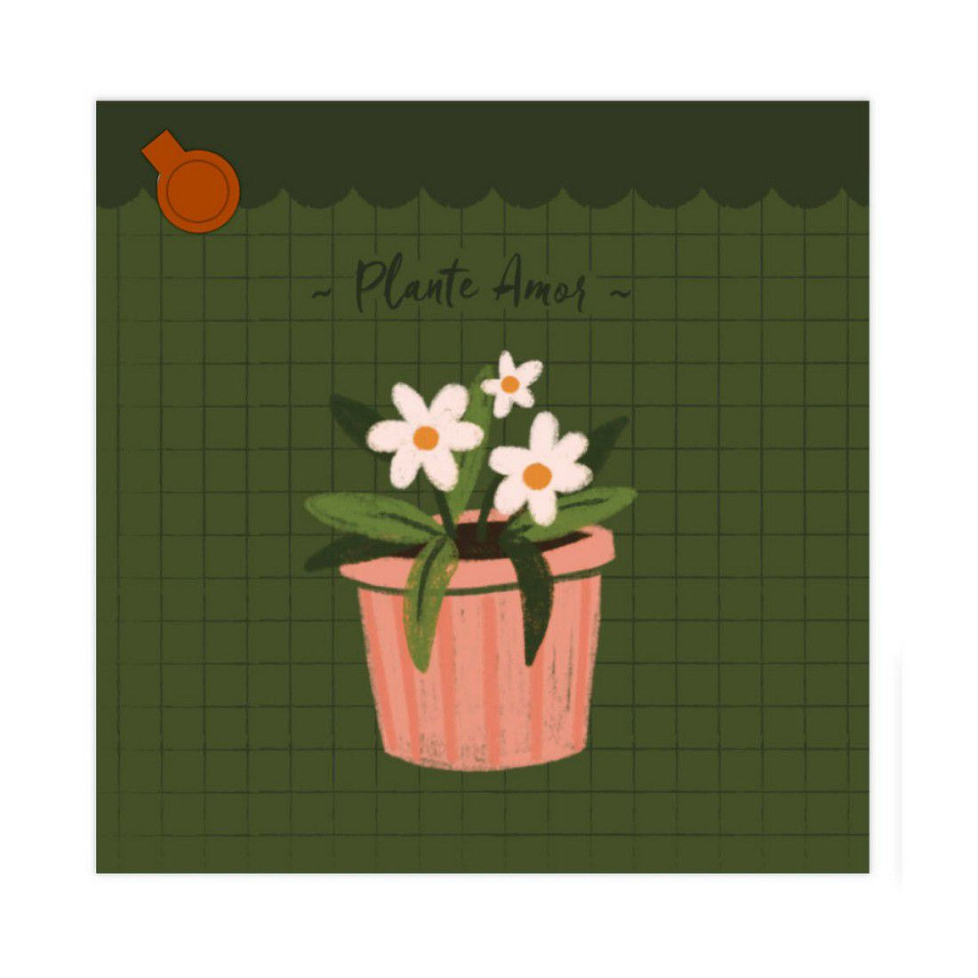 Bloco de Anotações Garden Vasinhos Lubi