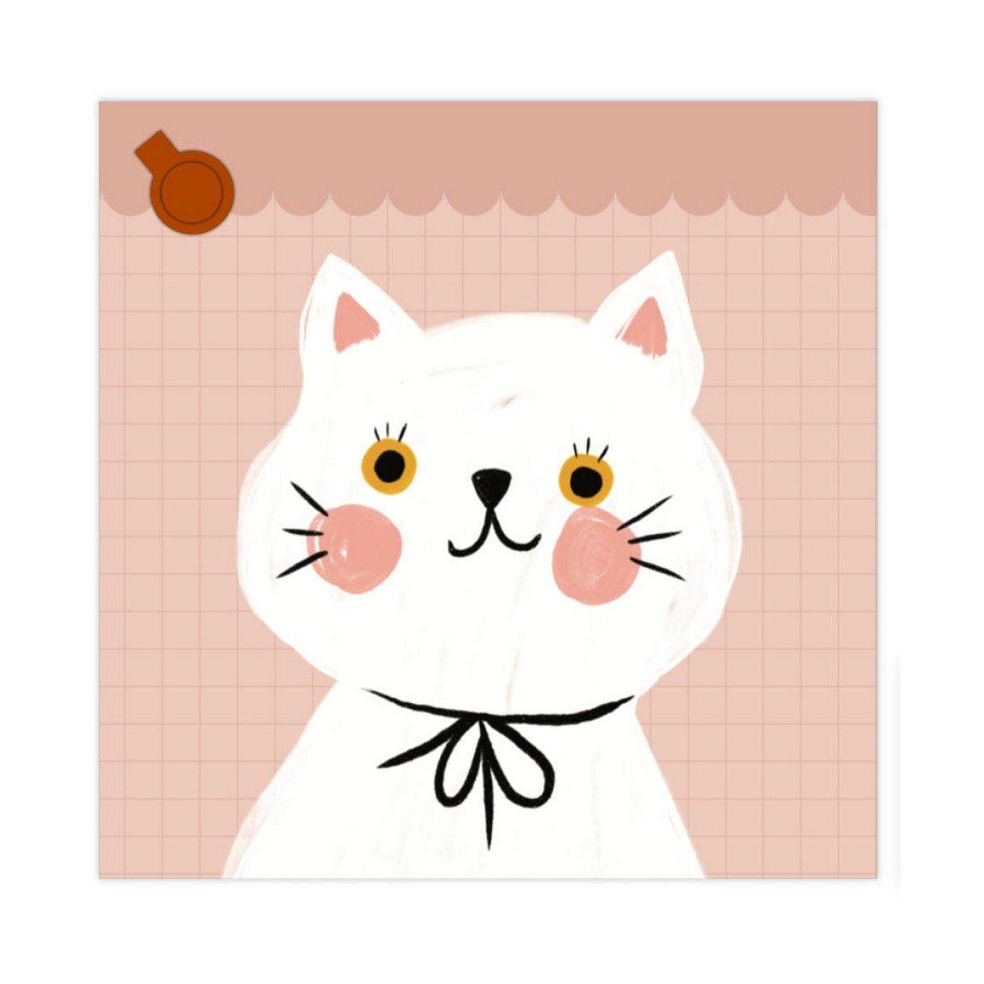 Bloco de Anotações Gato Rose Lubi