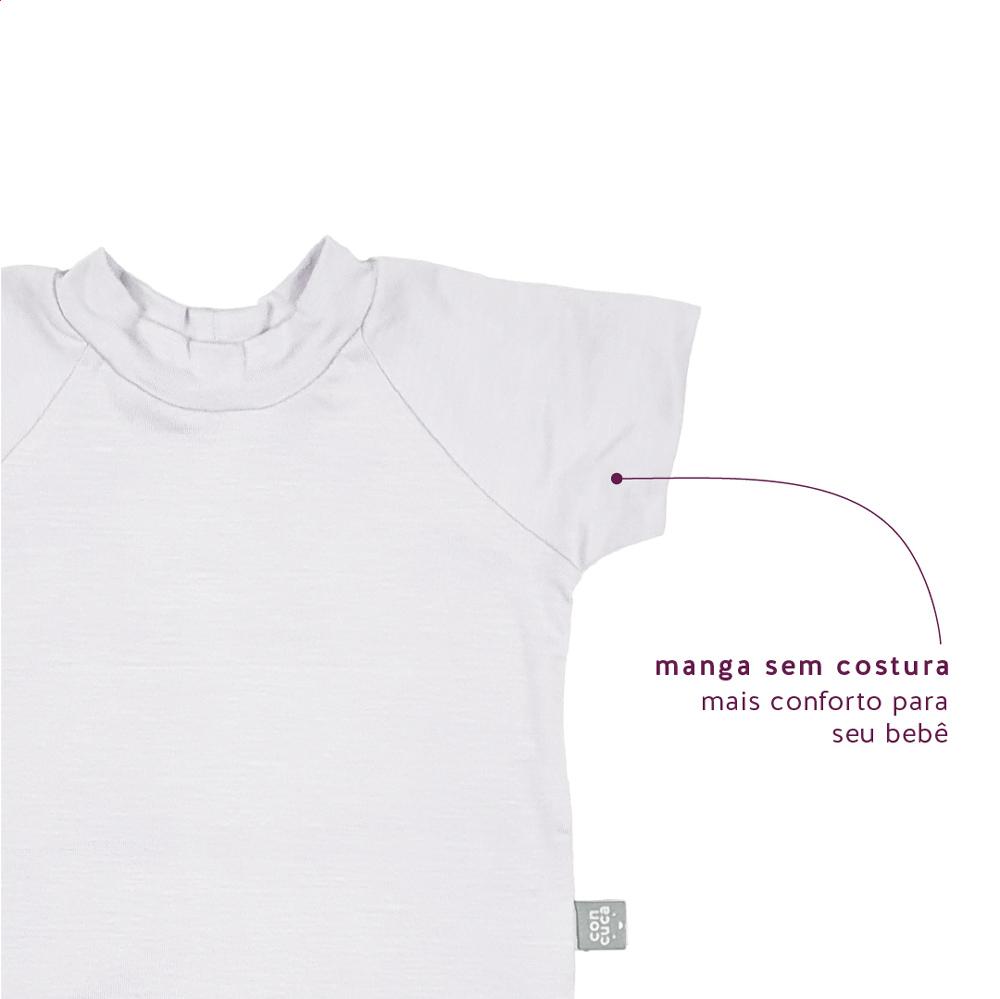 Body Manga Curta Modal Extensível Branco Concuca