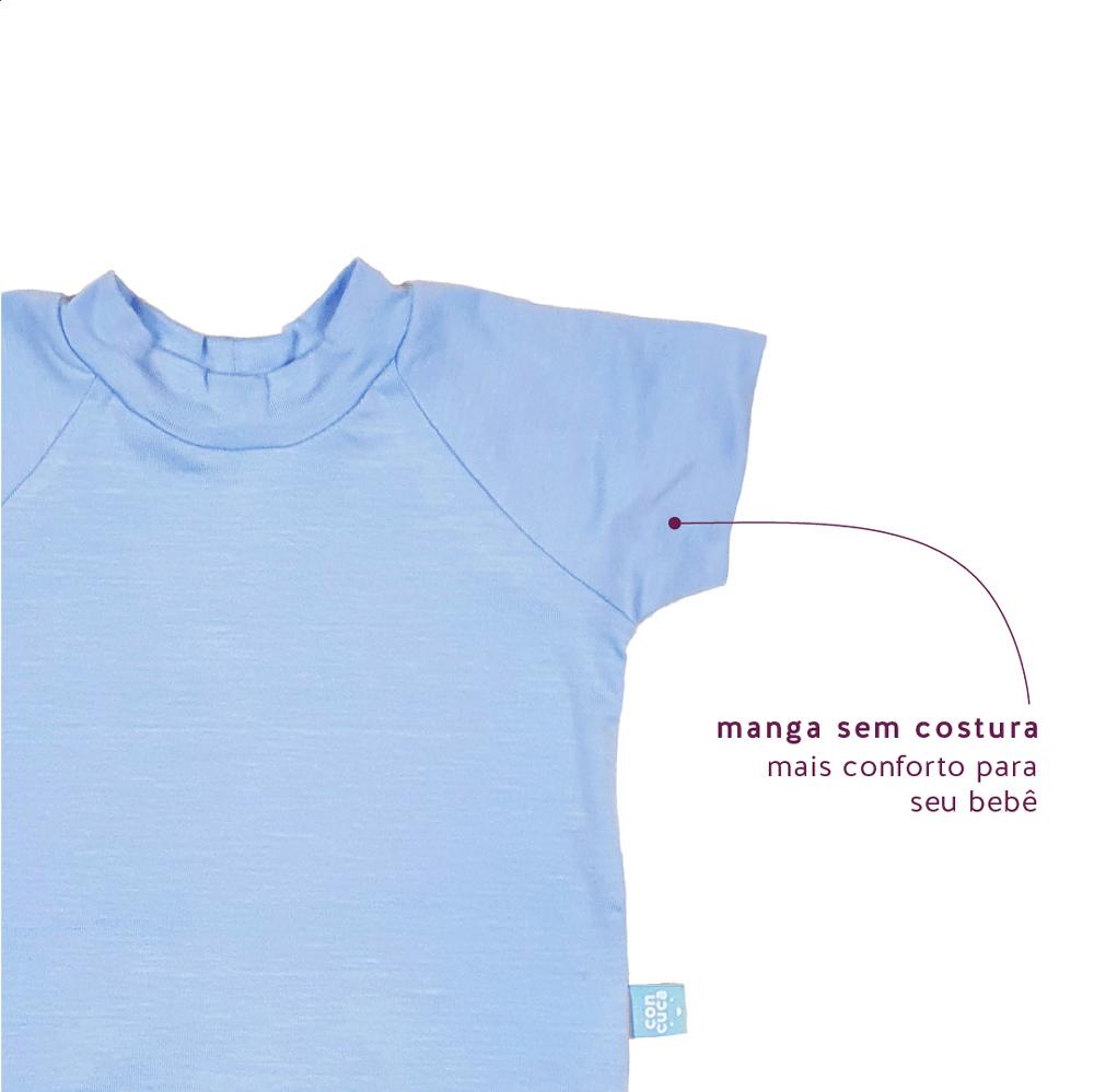 Body Manga Curta Modal Extensível Frozen Azul Concuca