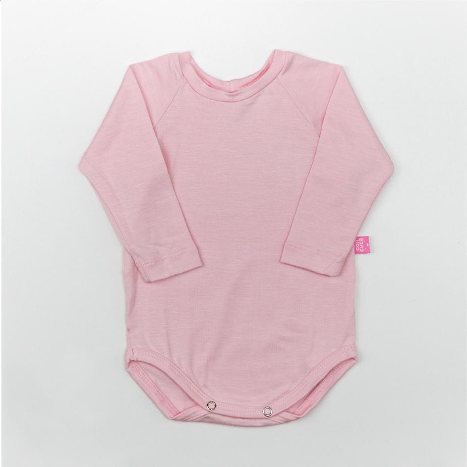 Body Manga Longa Modal Extensível Cristal Rosa Concuca