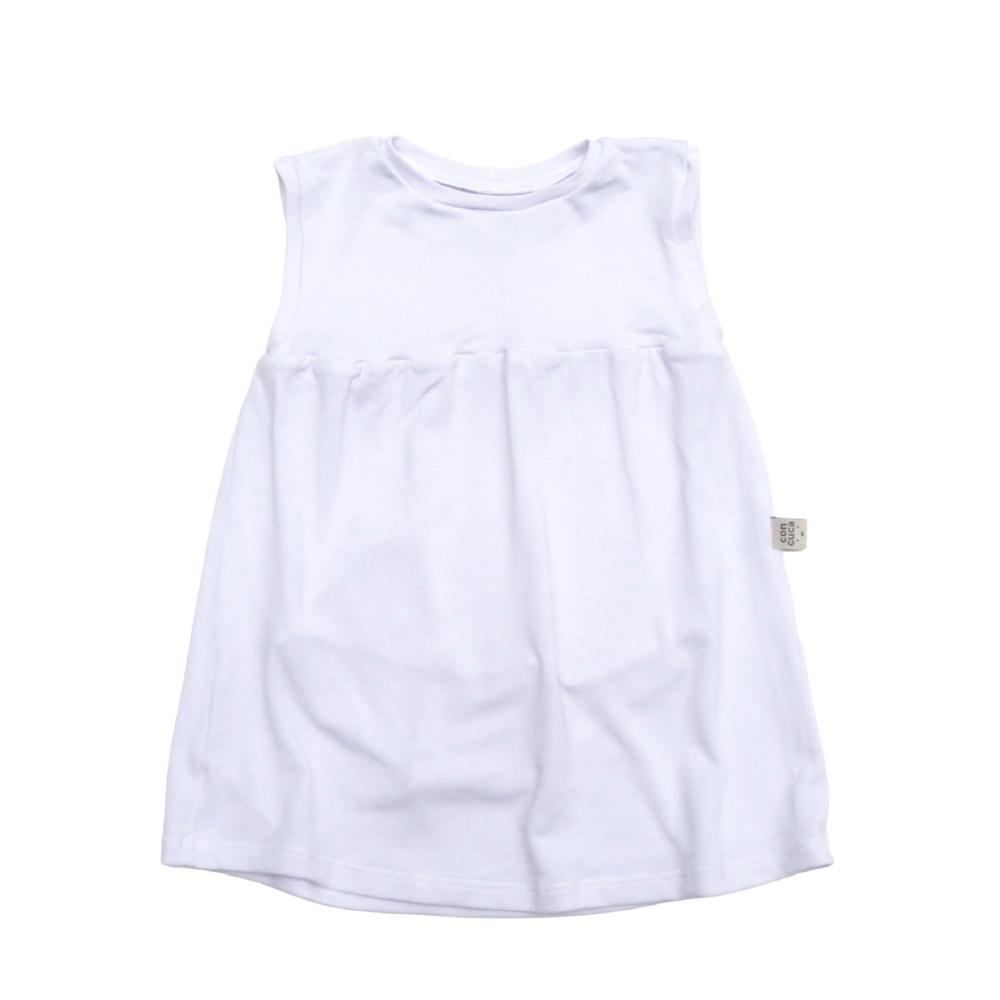 Body Vestido Modal  Branco Concuca