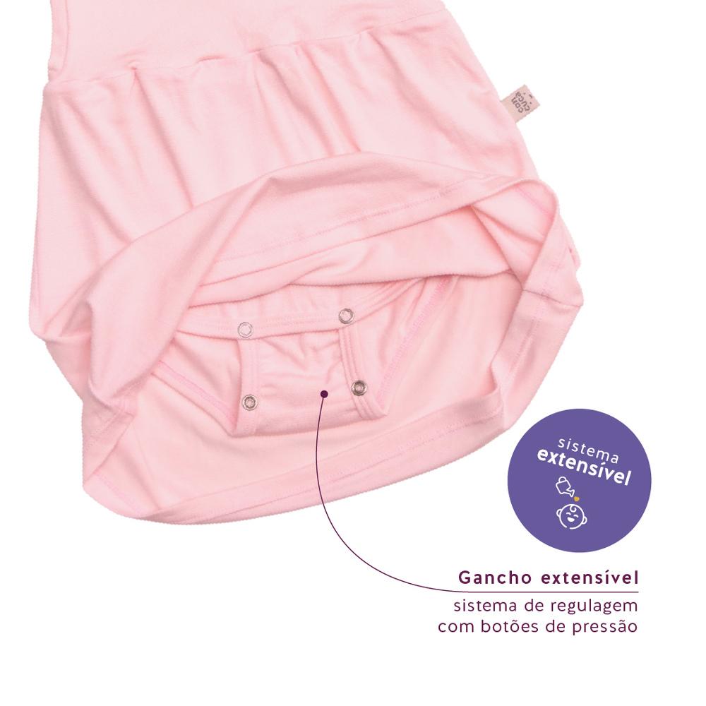 Body Vestido Modal Cristal Rosa Concuca