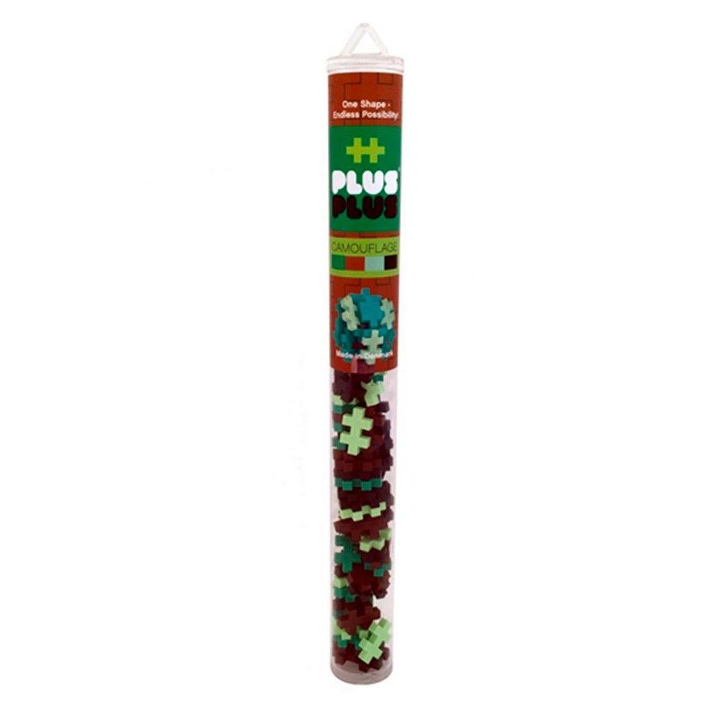 Brinquedo de montar  Tube Mini Camuflado 100 Peças Plus Plus