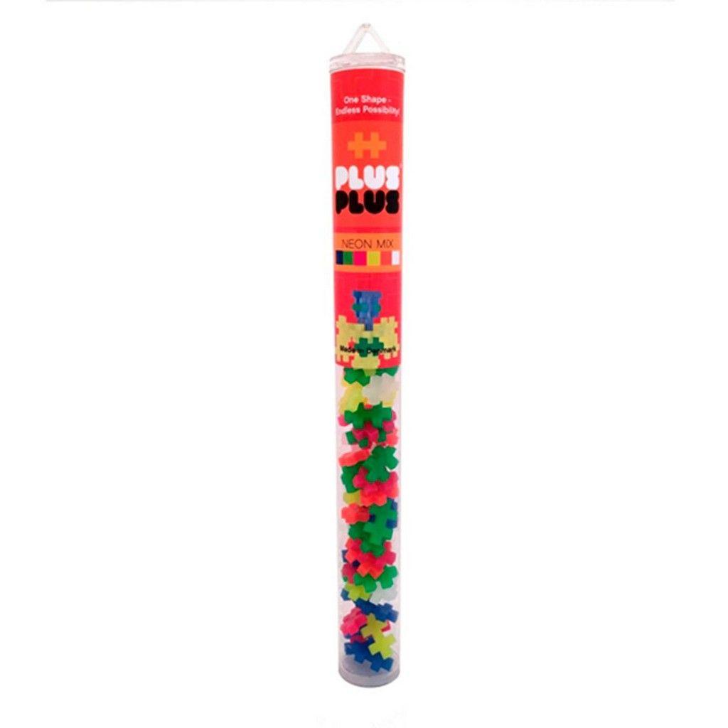 Brinquedo de montar Tube - Neon 100 peças Pus Plus