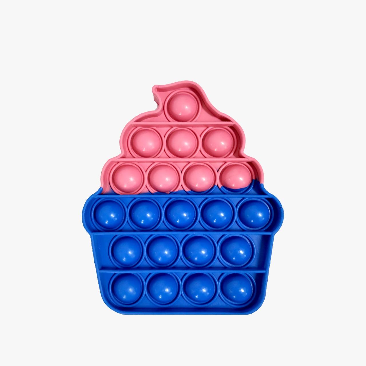 Brinquedo Pop-it Fidget Toys Cupcake