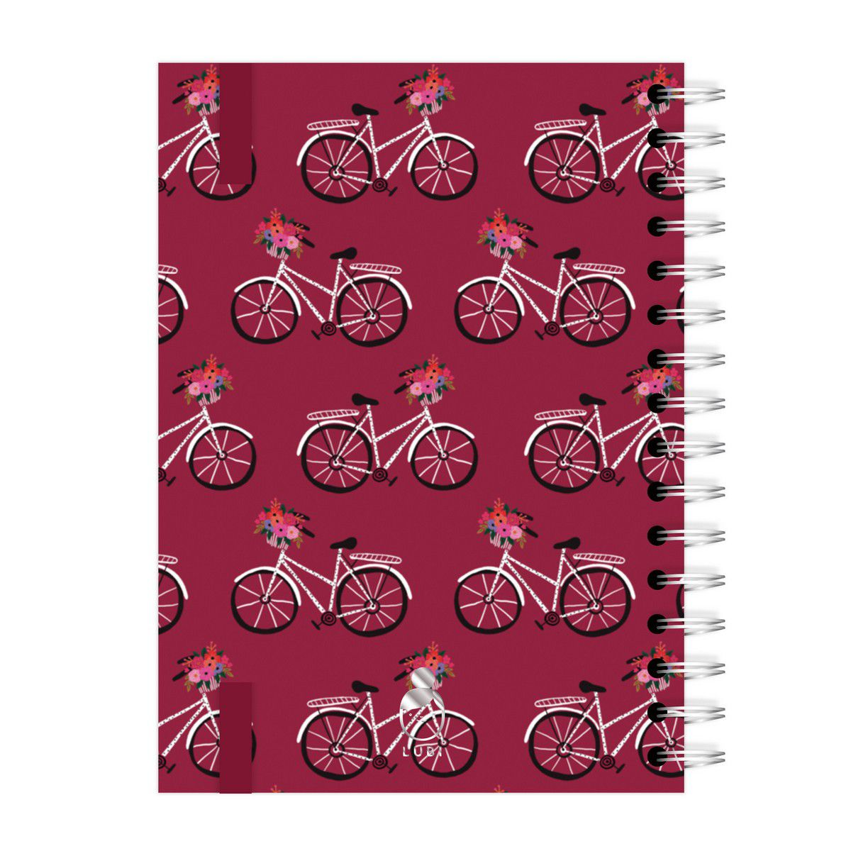 Caderno A4 96 folhas Bicicleta Vinho Lubi