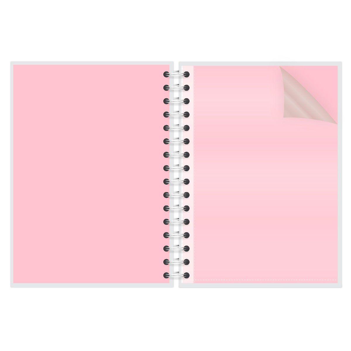 Caderno A4 96 folhas Gato Rose Lubi