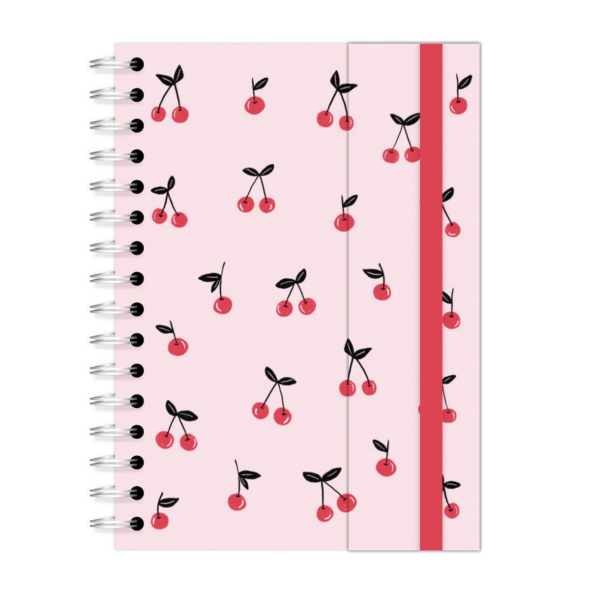 Caderno A5 com aba Chihuahua Cerejinhas Lubi