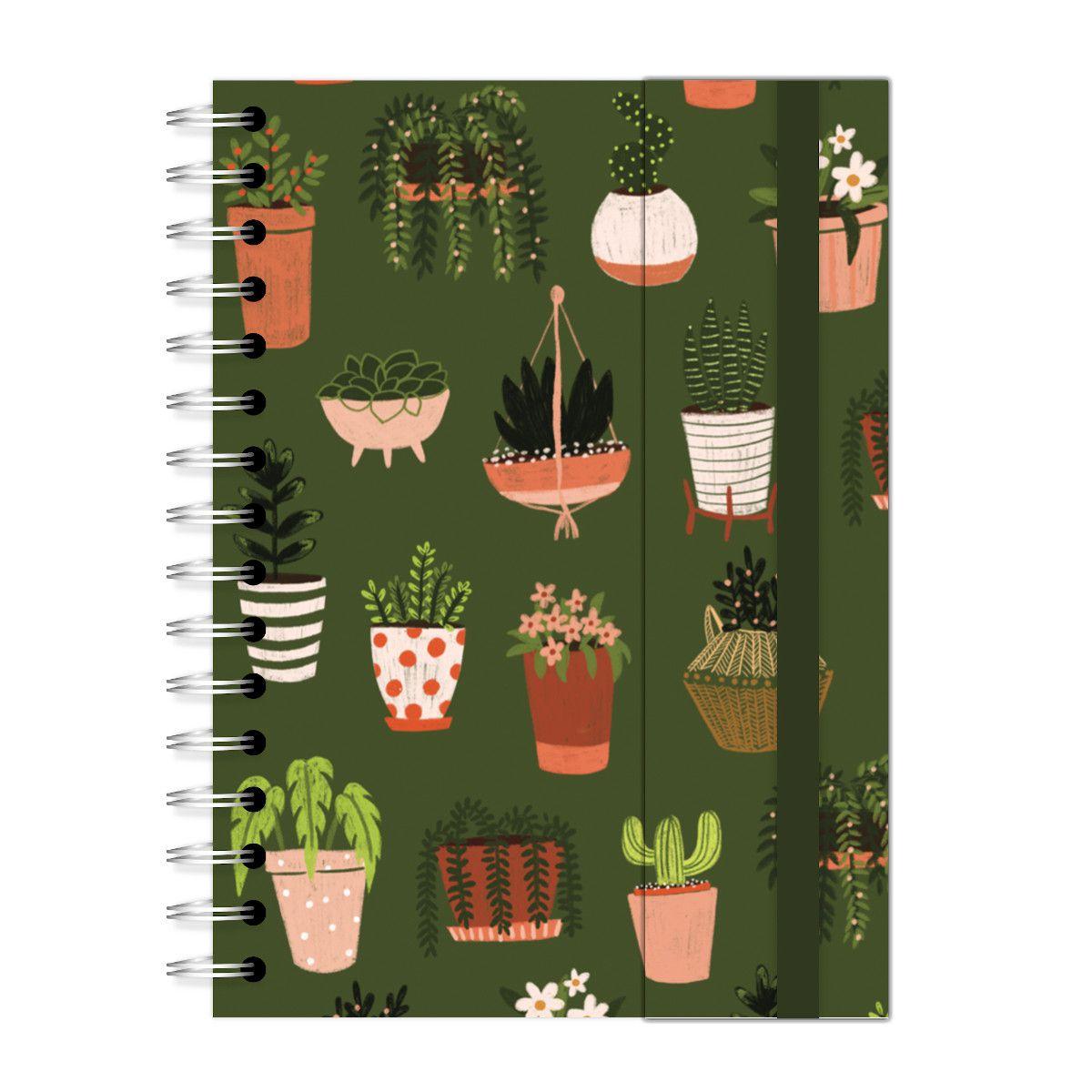 Caderno A5 com aba Garden Vasinhos Lubi
