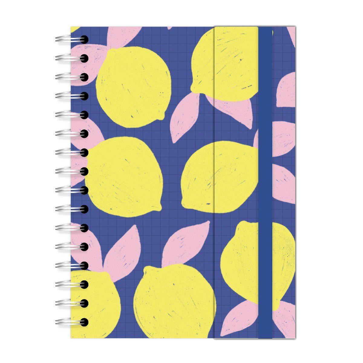 Caderno A5 com aba Limões Lubi
