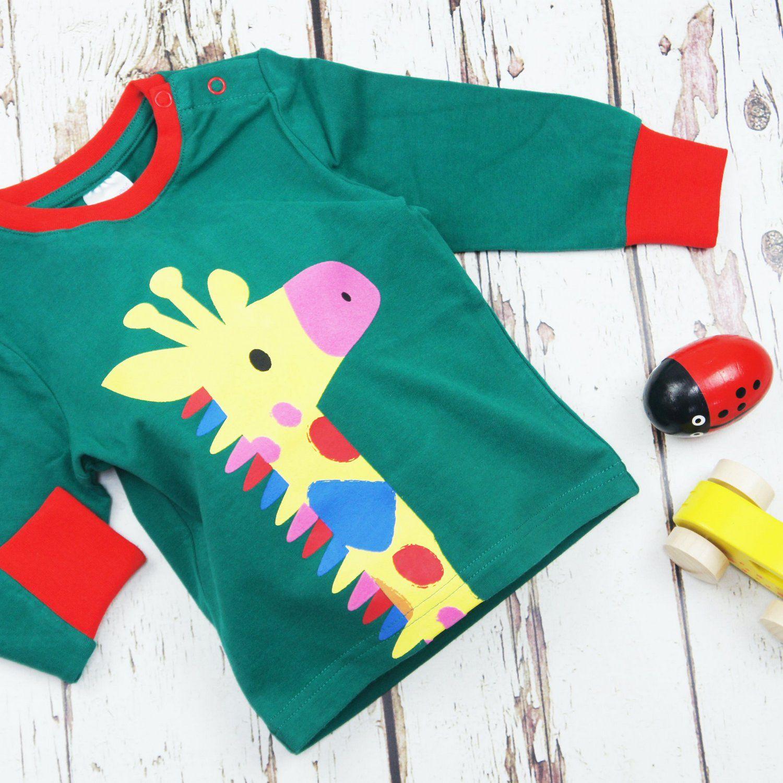 Camiseta Manga Longa Girafa Blade and Rose