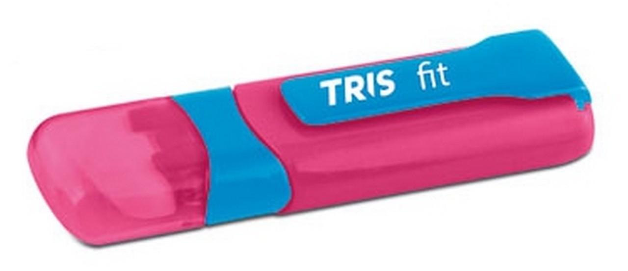 Caneta Borracha Fit Pink e Azul Tris