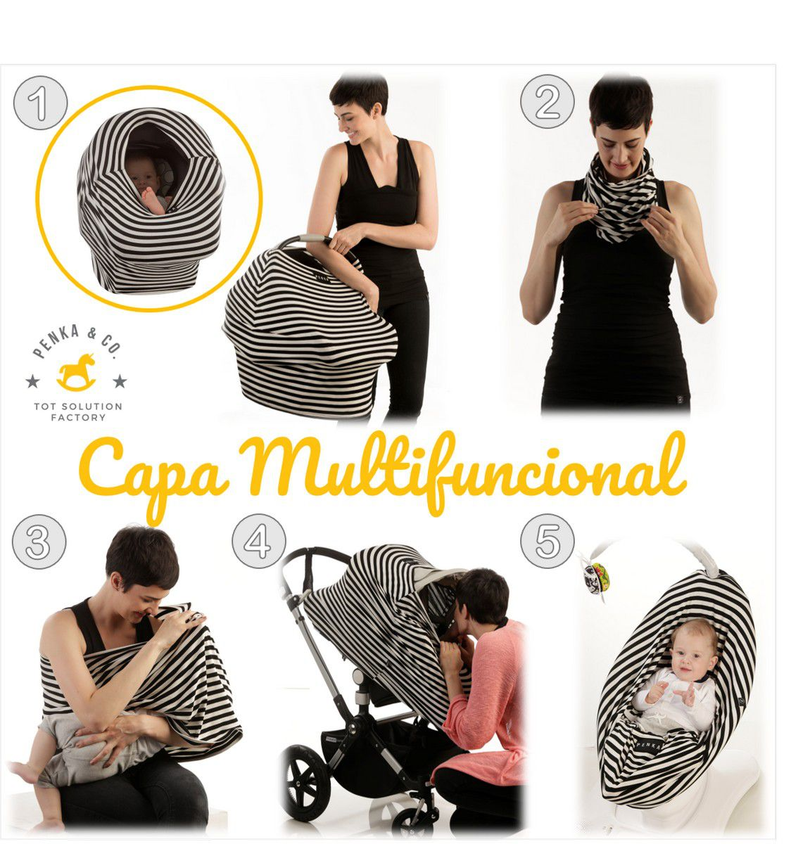 Capa Bebê Conforto Multifuncional Encantado Liso Penka