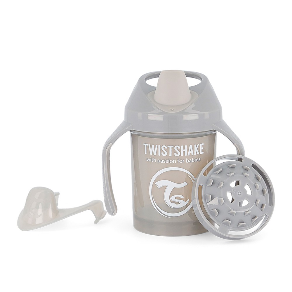 Copo de Treinamento com alça 230 ml Cinza Twistshake