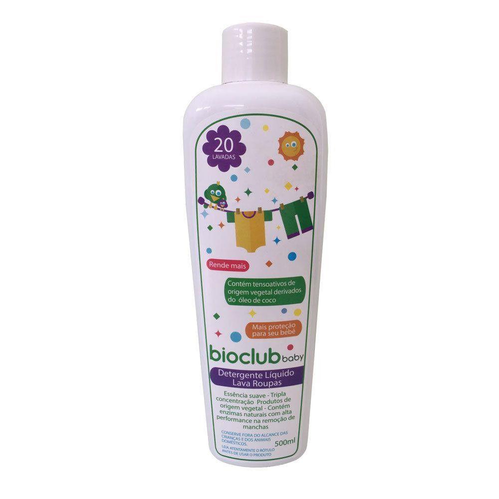 Detergente Liquido Lava Roupas 500 ml BioClub