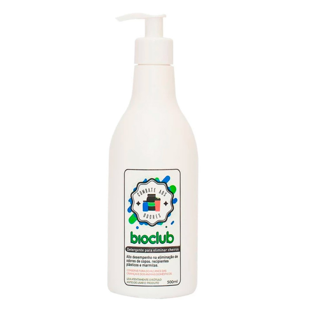 Detergente para Eliminar Cheiro de Utensílios 500 ml Bioclub
