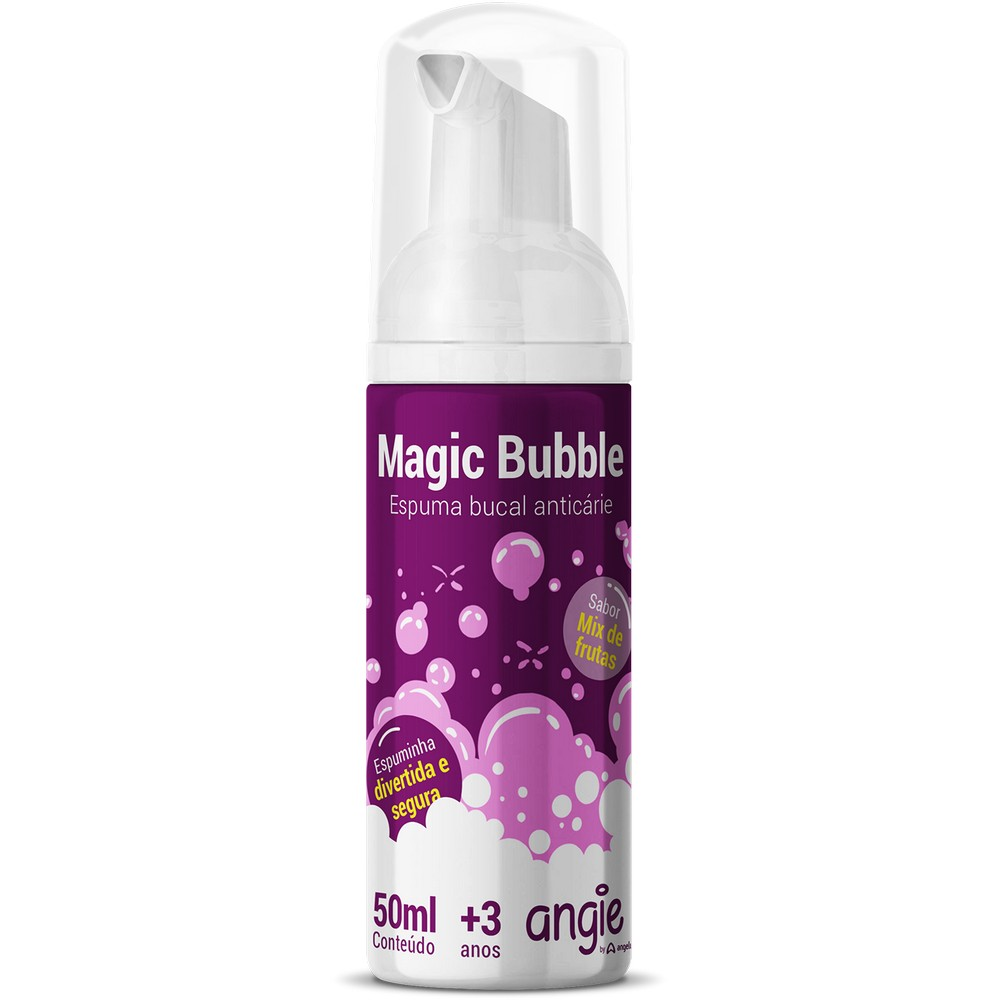 Espuma Bucal Anticárie Magic Bubble 50ml Angie