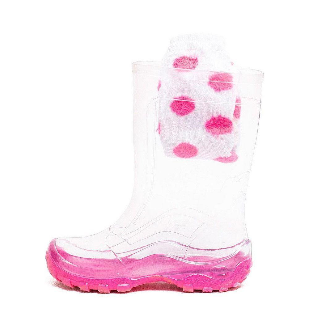 Galochas Infantil Nieve Cristal Rosa Calfor