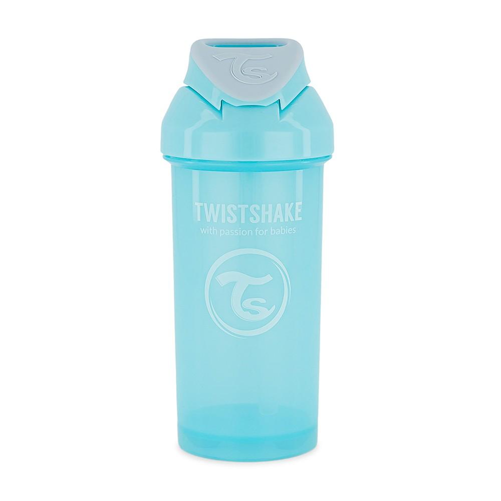 Garrafinha com canudo 360 ml Azul Twistshake