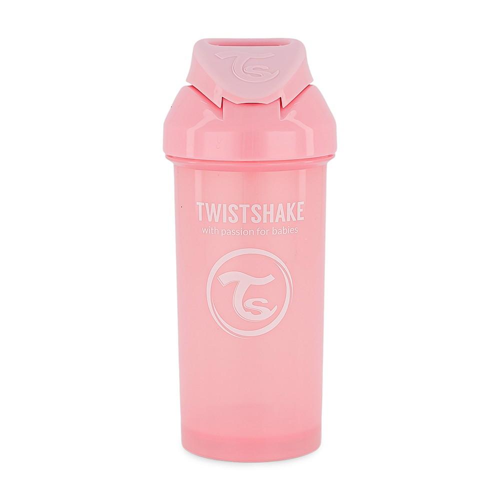 Garrafinha com canudo 360 ml Rosa Twistshake