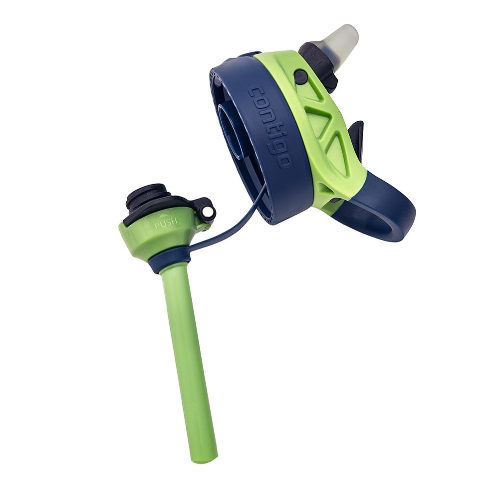 Garrafinha Infantil Tritan Verde e Azul Marinho 414ml Contigo