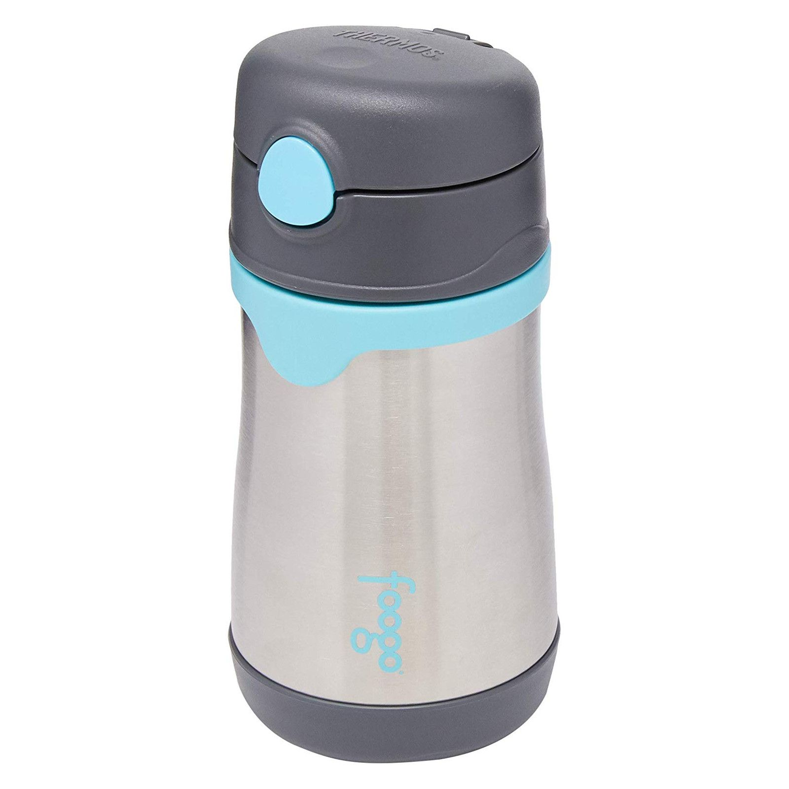 Garrafinha Térmica Foogo 290 ml Cinza e Azul Thermos