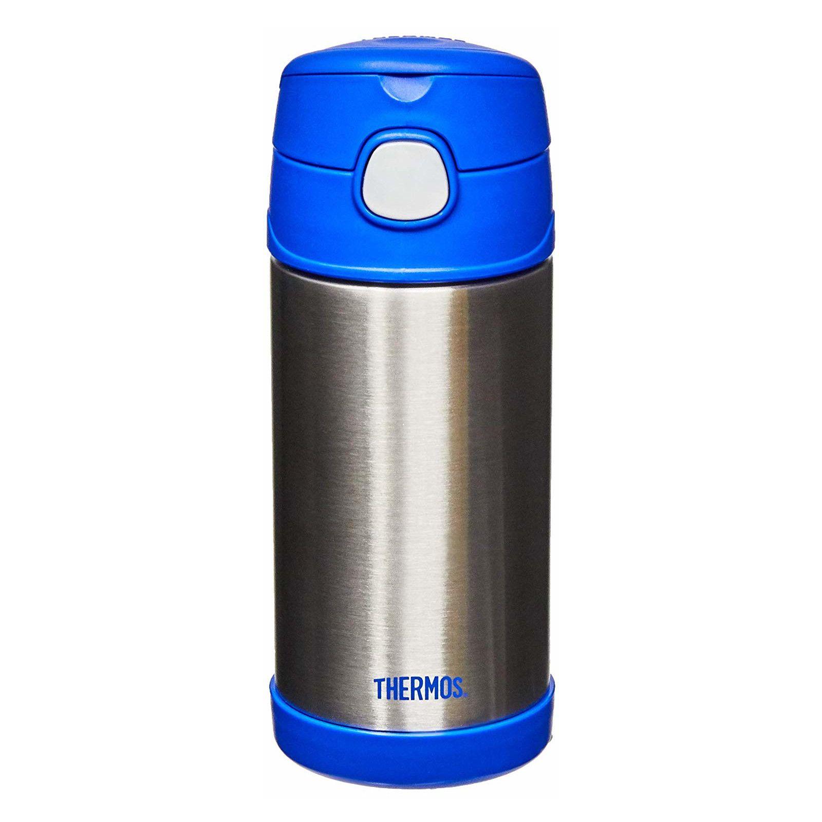 Garrafinha Térmica Funtainer 355 ml Azul e Inox Thermos