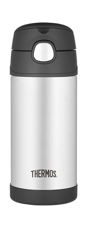 Garrafinha Térmica Funtainer 355 ml Preto e Inox Thermos