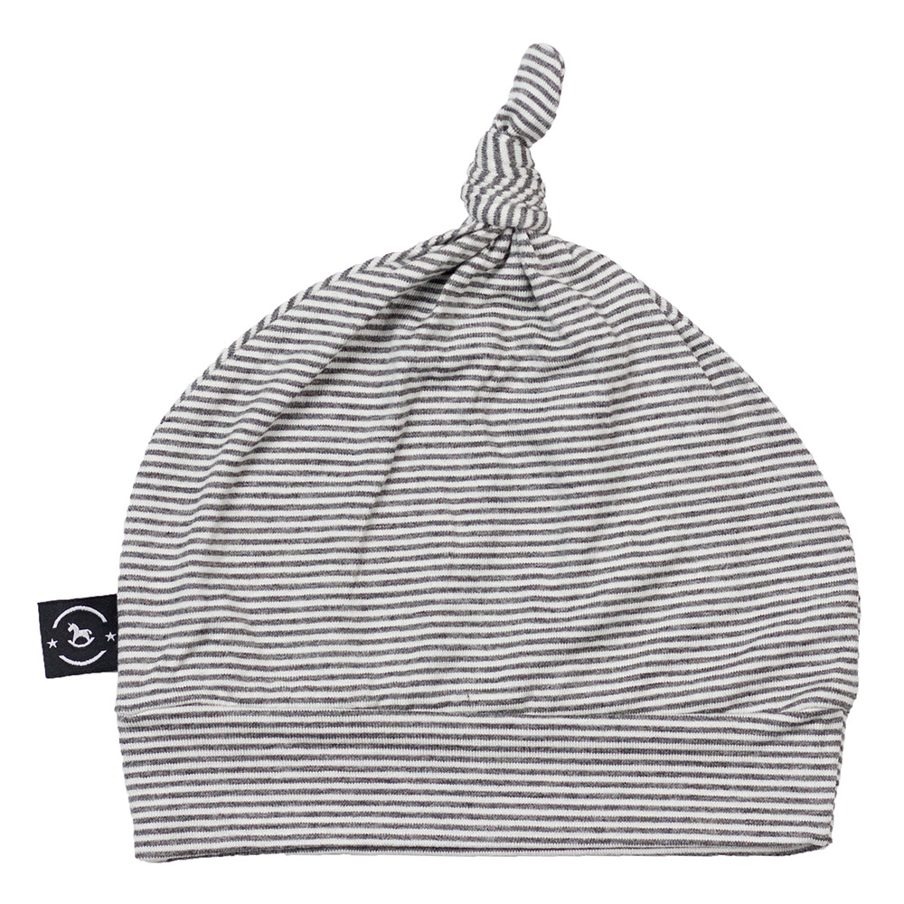 Gorro Touca para Recém Nascido Astro Cinza Penka Knot Hat