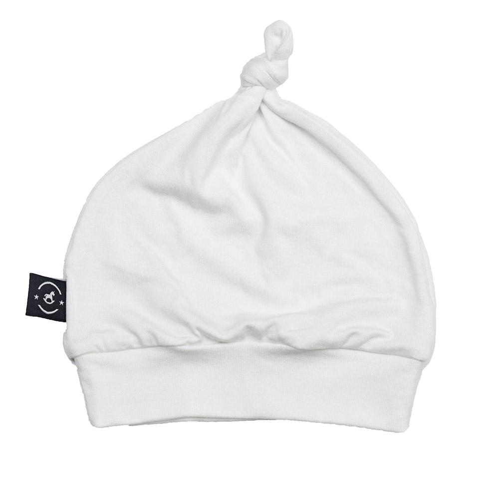 Gorro Touca para Recém Nascido Milu Branco Penka Knot Hat