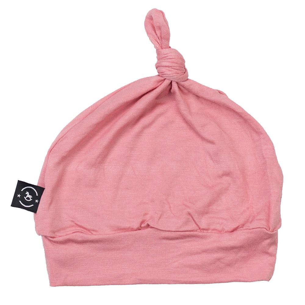 Gorro Touca para Recém Nascido Penelope Rosa Penka Knot Hat