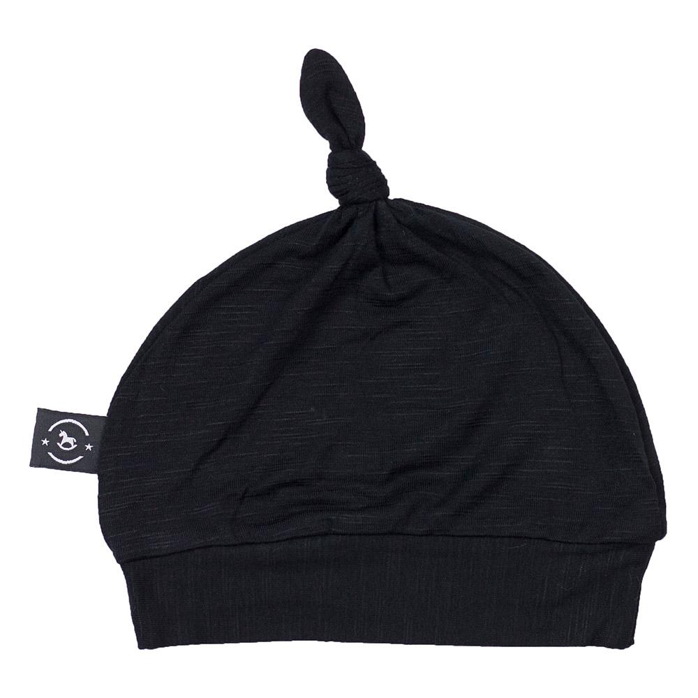 Gorro Touca para Recém Nascido Scar Preto Penka Knot Hat