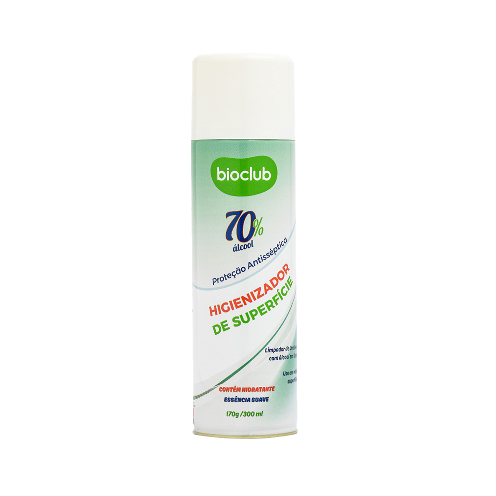 Higienizador de Superfícies Aerosol 300 ml Bioclub
