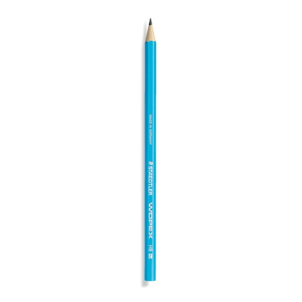 Lápis Preto Wopex HB2 Azul Neon Staedtler