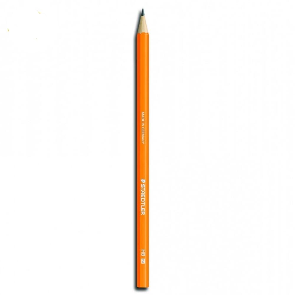 Lápis Preto Wopex HB2 Laranja Neon Staedtler