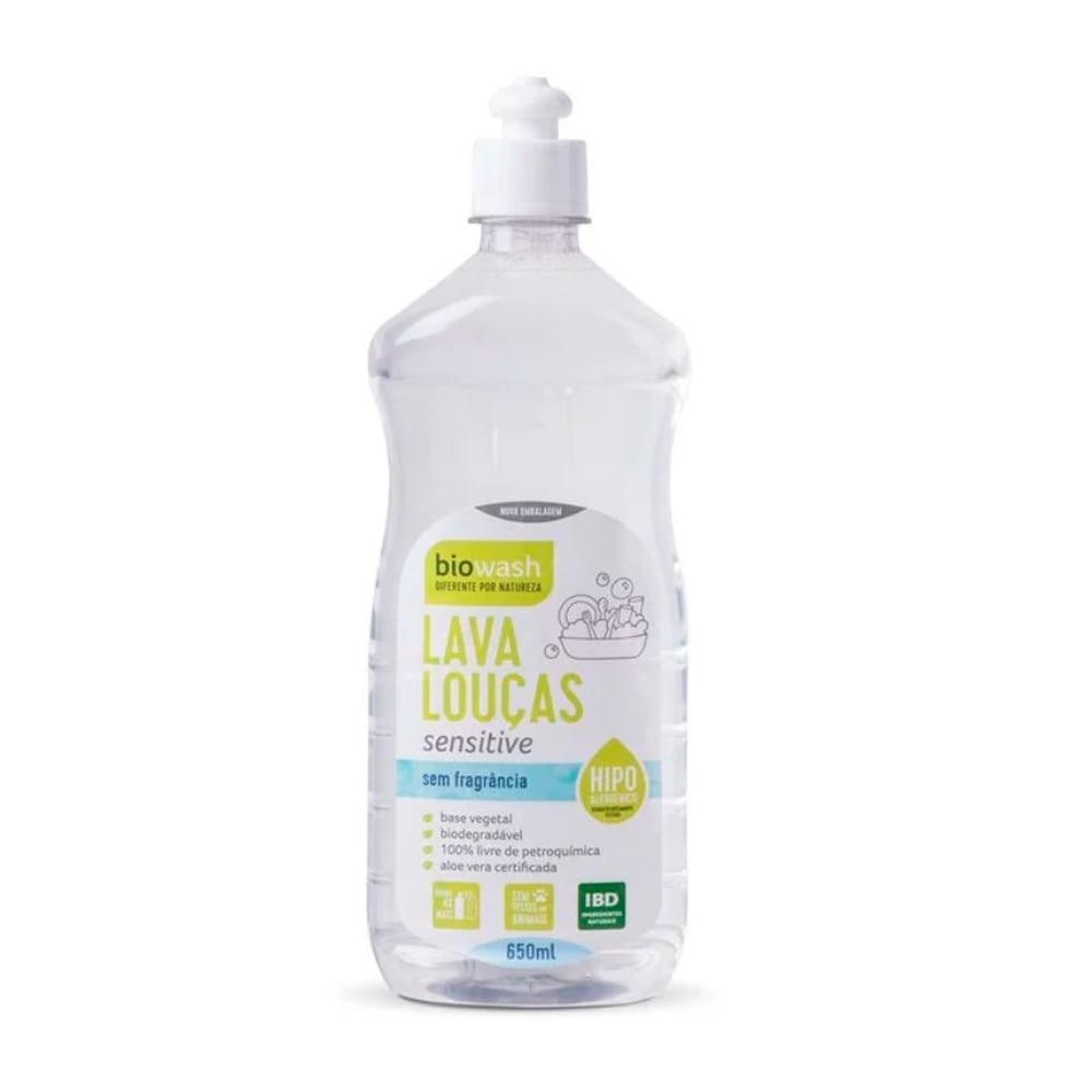Lava Louças Sensitive 650 ml Biowash