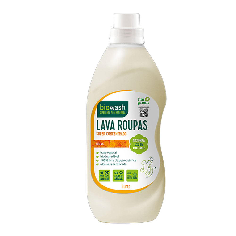 Lava Roupas Concentrado Citrus 1L Biowash