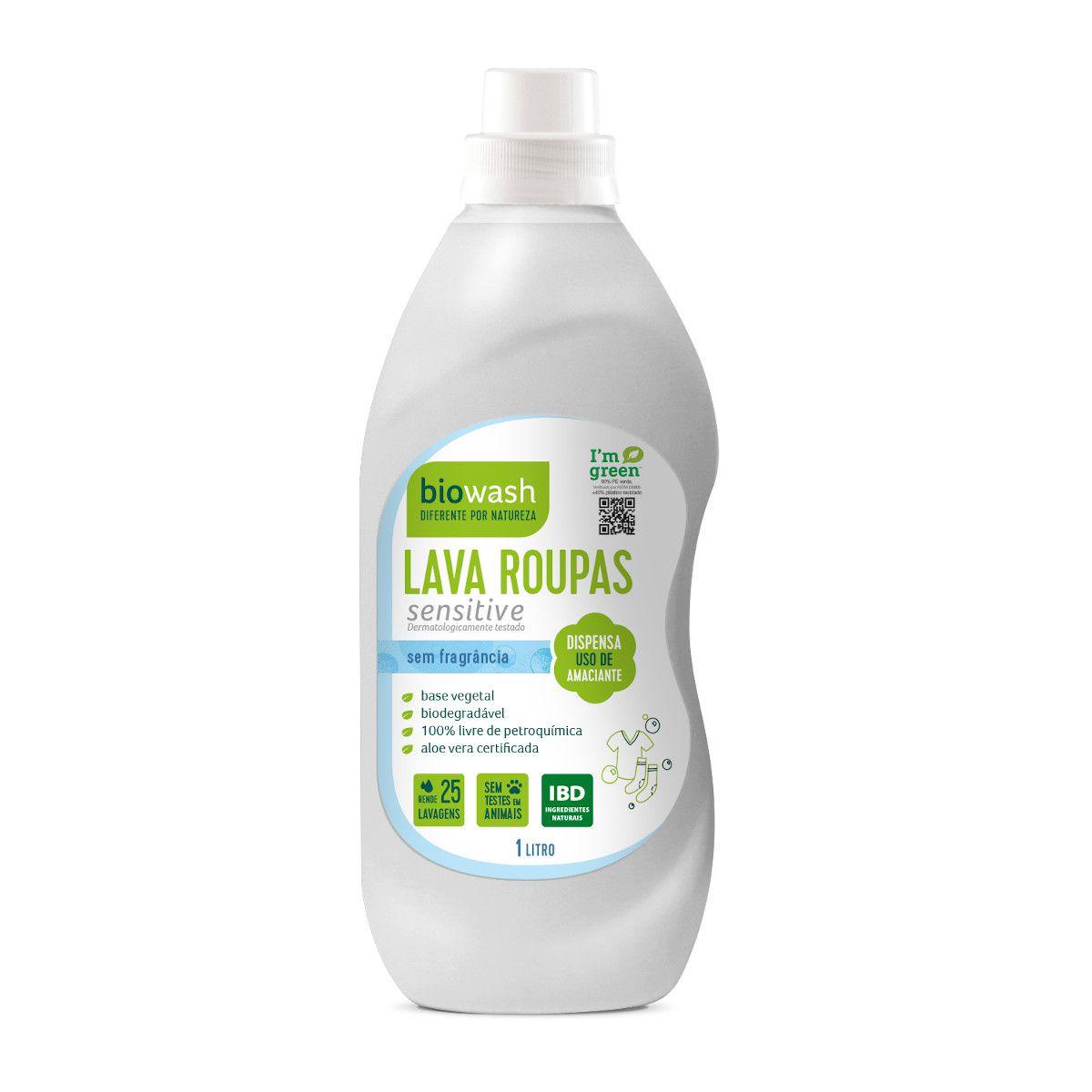 Lava Roupas Sensitive Concentrado 1 litro Biowash