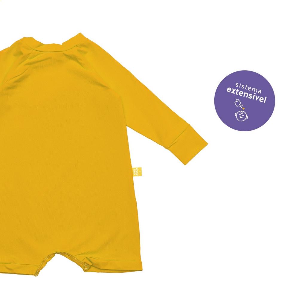 Macacão Curto com Proteção FPS50+ Honey Amarelo Concuca
