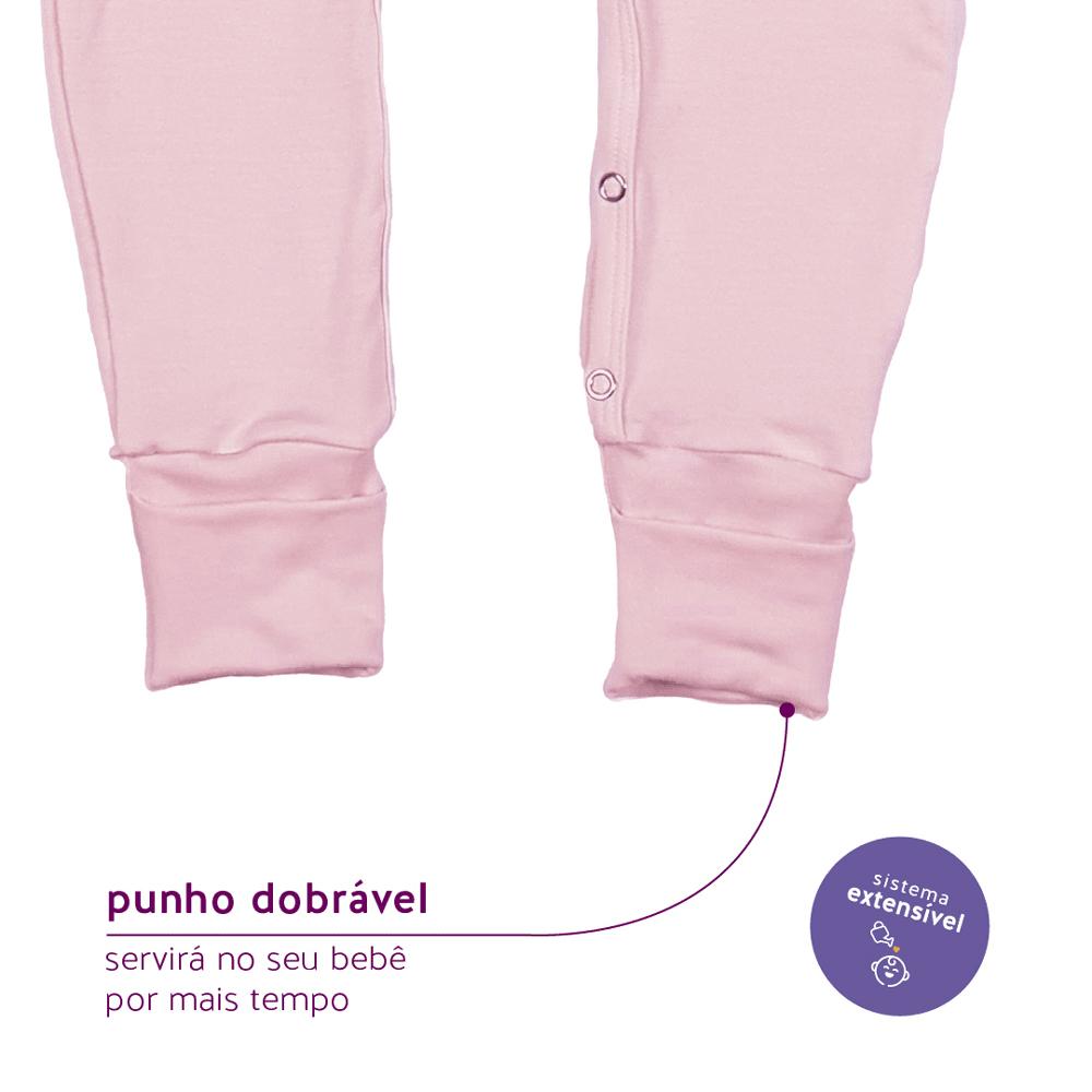Macacão Longo Modal Extensível Cristal Rosa Concuca