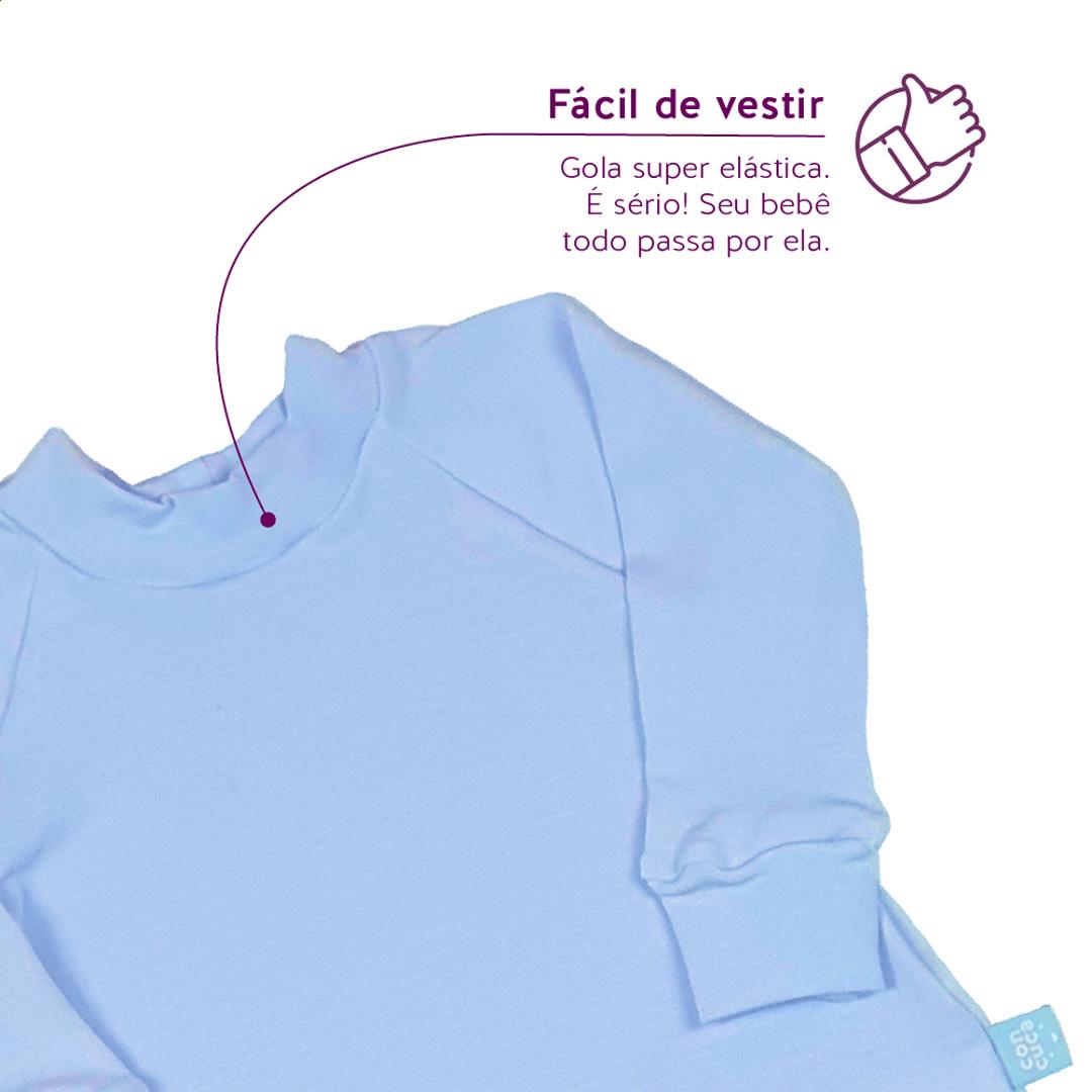 Macacão Longo Modal Extensível Frozen Azul Concuca