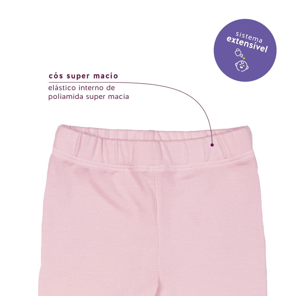 Mijão Modal Extensível Cristal Rosa Concuca