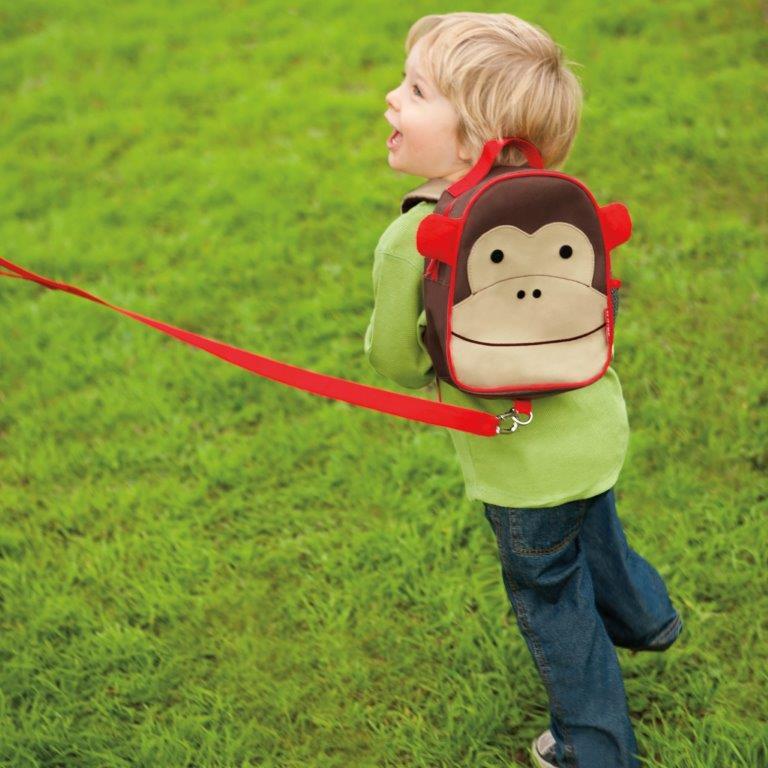 Mini Mochila com Guia Zoo Macaco Skip Hop