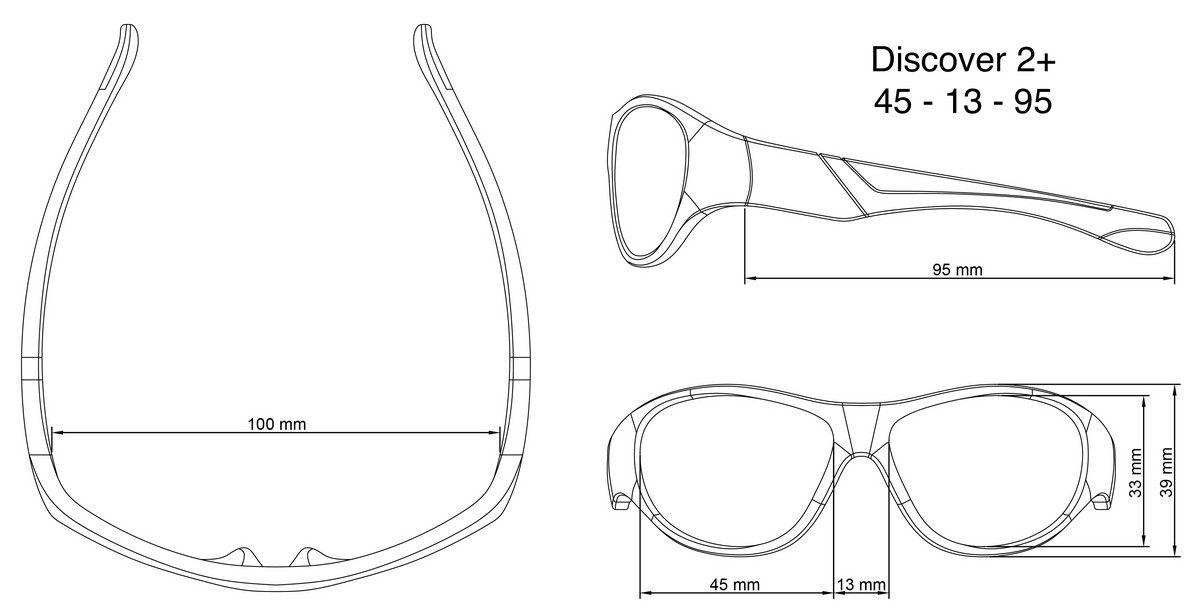 Óculos de Sol Discover Branco e Roxo Real Shades
