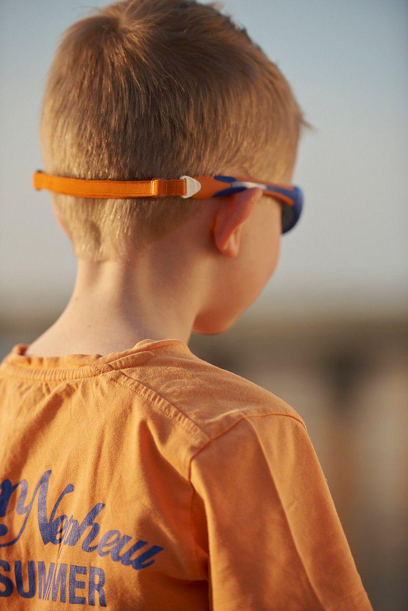 Óculos de Sol Explorer Azul e Laranja Real Shades