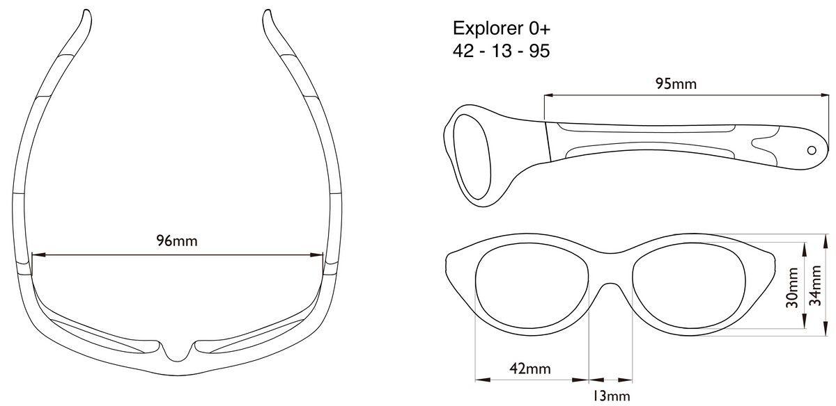 Óculos de Sol Explorer Rosa Claro e Escuro Real Shades