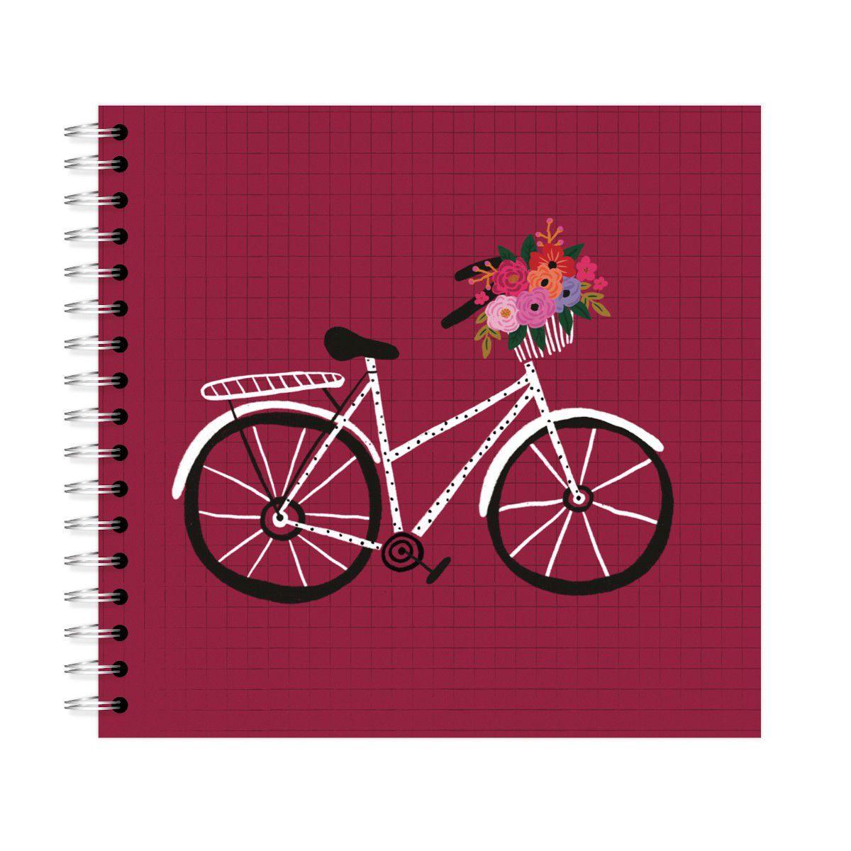 Planner Mensal Bicicleta Vinho Lubi