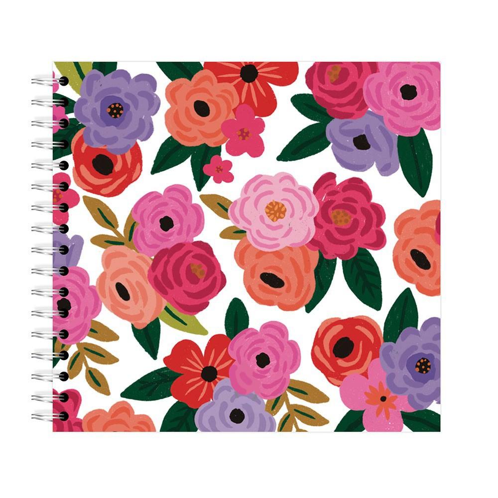 Planner Mensal Floral Branco Lubi